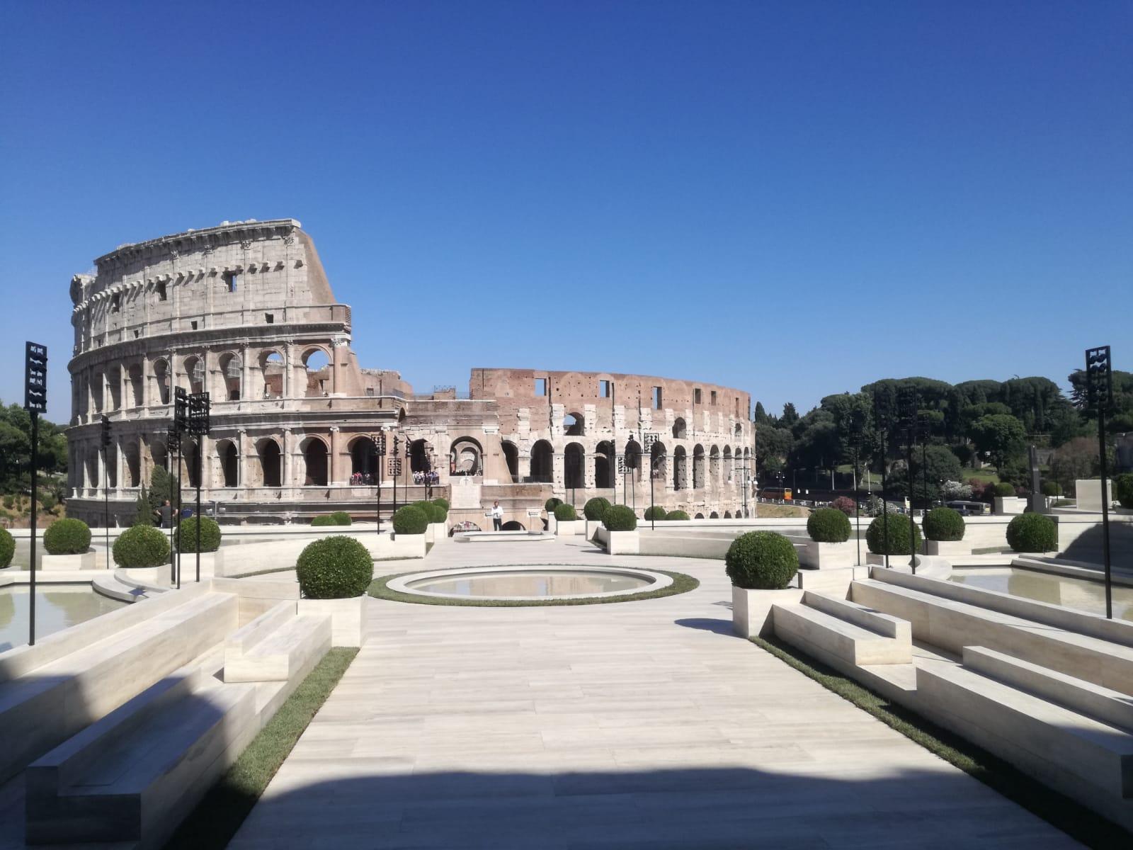 Allestimento per sfilata di moda, Roma